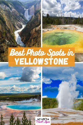 Aqui está uma referência fácil para os melhores locais para fotos no Parque Nacional de Yellowstone, além de dicas de fotografia sobre como capturá-los! A primavera e o início do verão são ótimas épocas para visitar o Parque Nacional de Yellowstone, portanto, certifique-se de reservar com antecedência e vá preparado para evitar as multidões! #yellowstone #nationalparks #ustravel #usatravel