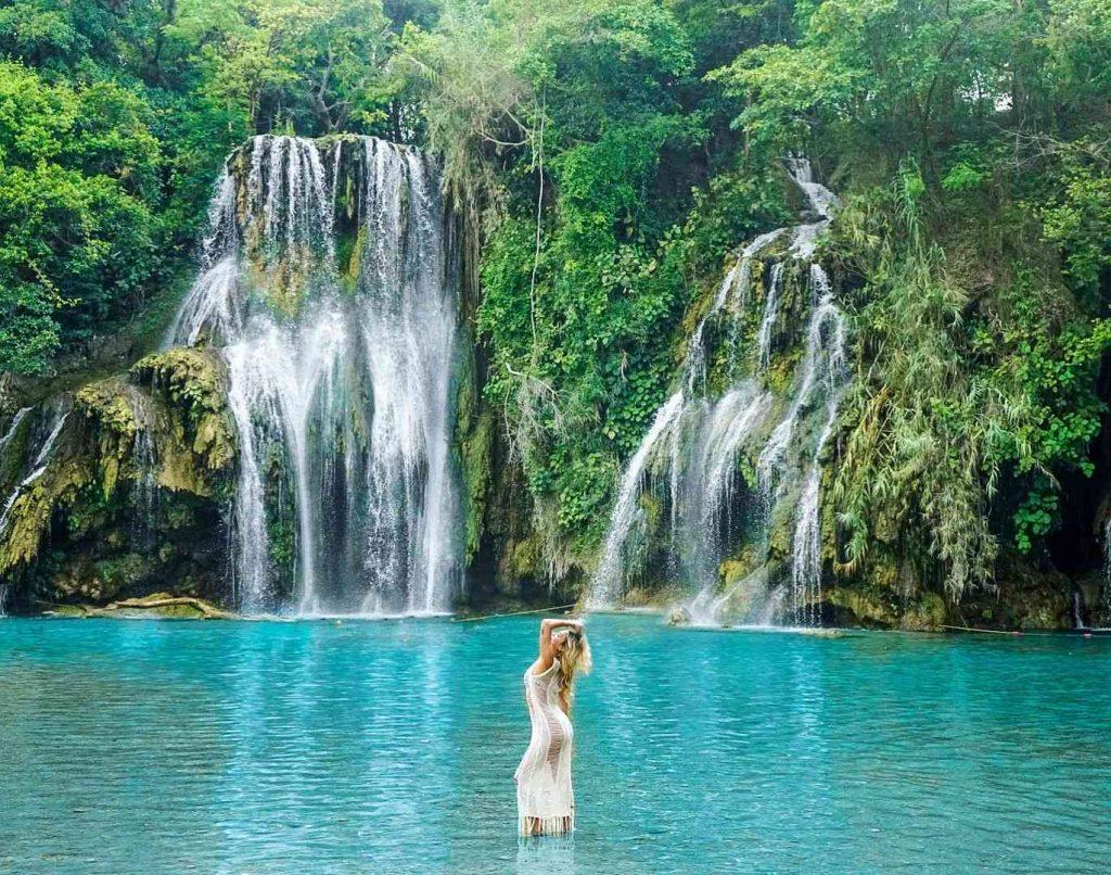 Cachoeiras Tamasopo em Huasteca Potosina, México