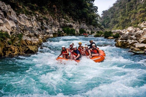 Rafting no rio Tamapaon na Huasteca