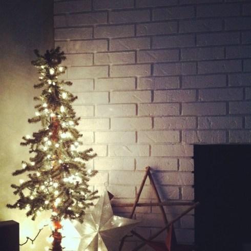 my sweet restrung Christmas evergreen