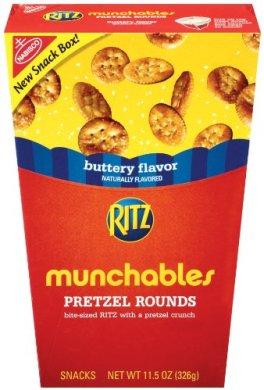 Nabisco Munchables Pretzel Rounds, buttery flavor