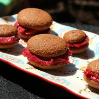 Mini Chocolate-Raspberry Ice Cream Sandwiches