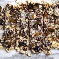 Popcorn Bark \\\ Croquant au maïs soufflé