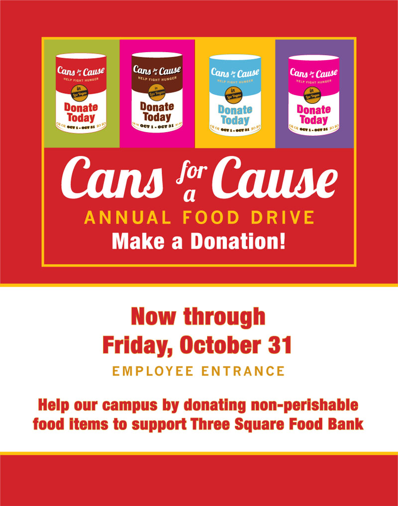 Cans for a Cause General Campaign Poster