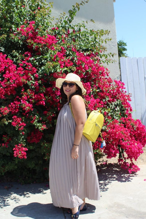 kate spade dress, henri bendel backpack