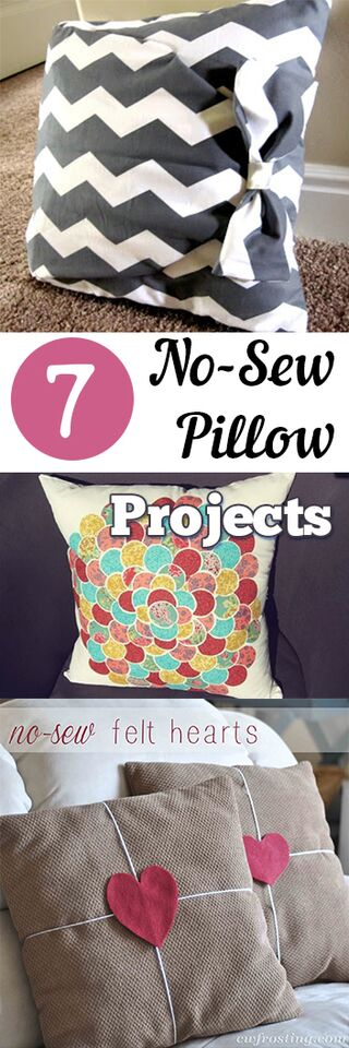 7 no sew pillow projects my list of lists