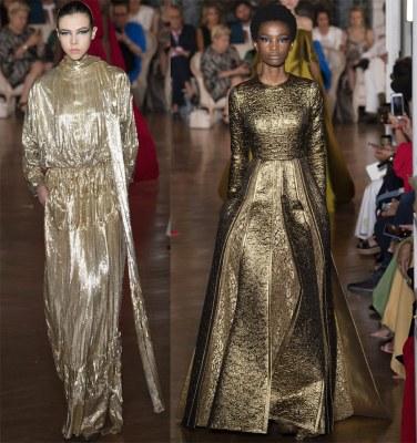 Valentino Gold Dresses