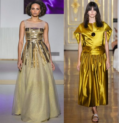 Golden dresses for the New Year