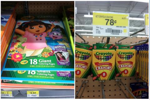 Walmart Buy Crayons Get 1 Off Coloring Book MyLitter