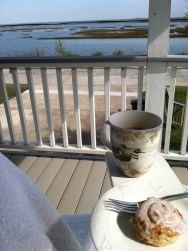Breakfast over the bay