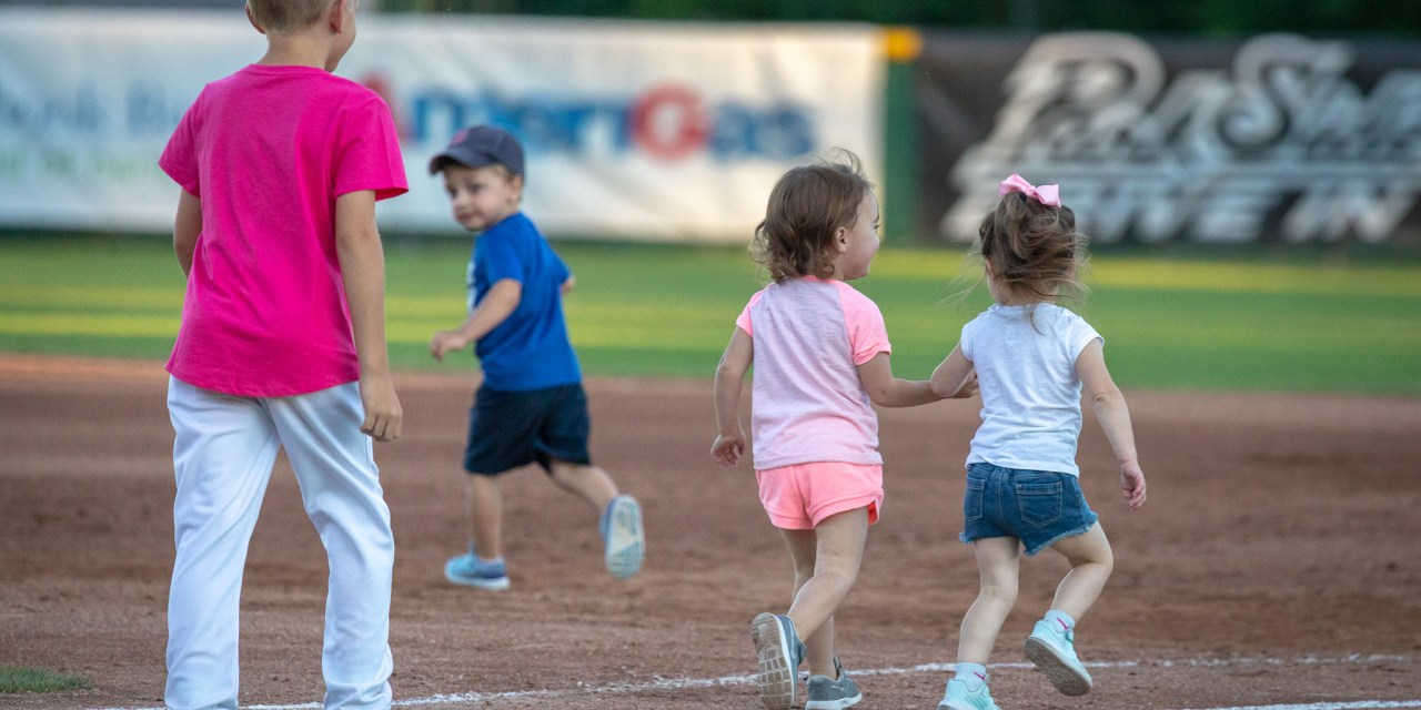 The Kids Round the Bases Thursday Night