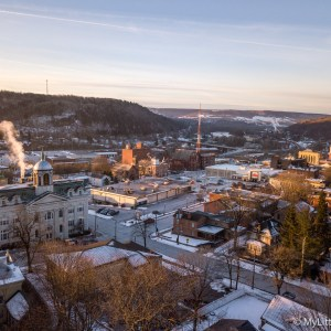 Photo by Dave Warner - Sunrise in Little Falls January 17, 2019.