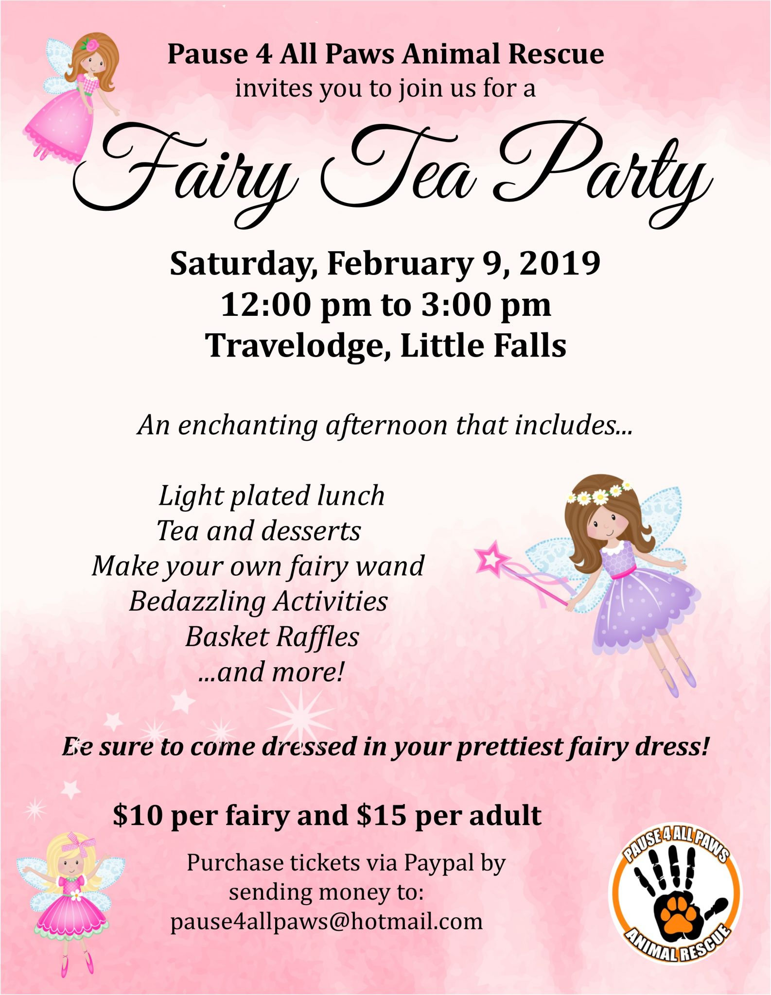 Pause 4 All Paws Animal Rescue Fairy Tea Party