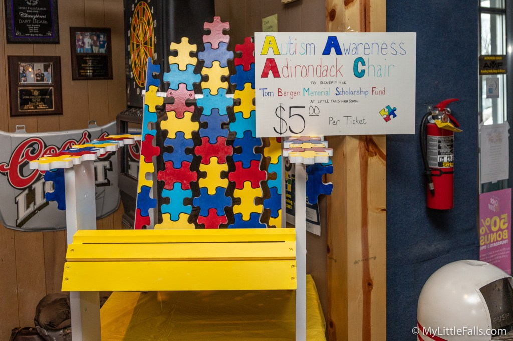 Photo by Dave Warner - one of the items on display for the raffle during the third annual Tom Bergen Memorial Autism Awareness Bowling Tournament.