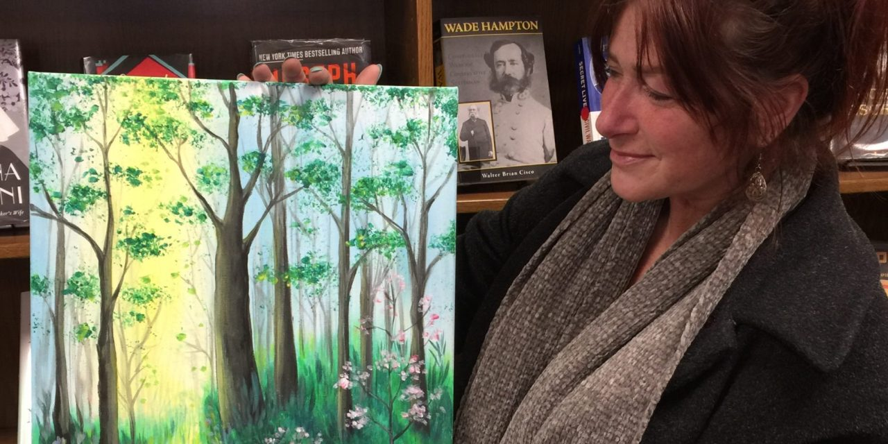 Paint and Sip scheduled for the Library