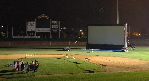 DiamondDawgs to show post-game movie on the field July 13th