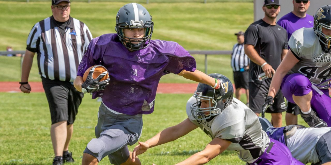Mounties show potential in Saturday scrimmage