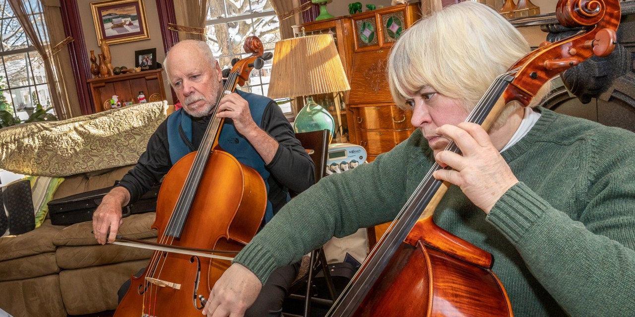 Mohawk Valley Strings tuning up in Little Falls