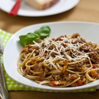 Spaghetti Bolognese with Hidden Vegetables