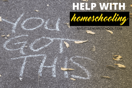 Help with homeschooling for a newbie and you got this written in chalk on a tarred road