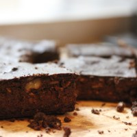 Intensely Dark Chocolate Pecan Brownies (gluten-free, grain-free, paleo)