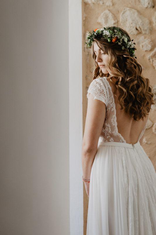 Espaldas increibles novia