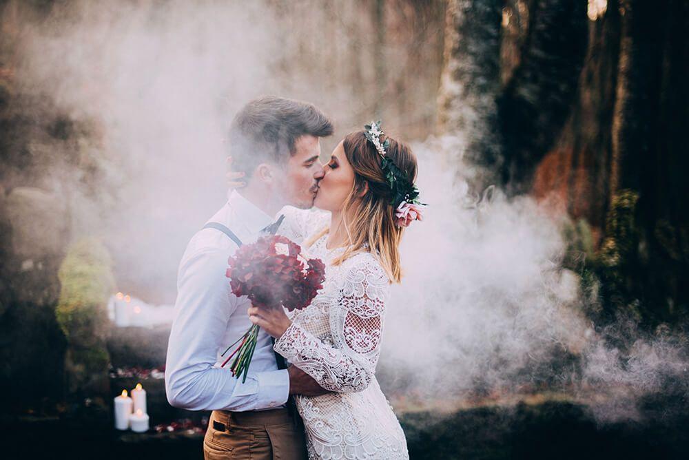 Bombas de humo bodas