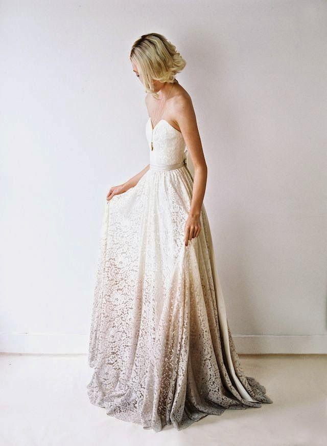 vestido novia degradado