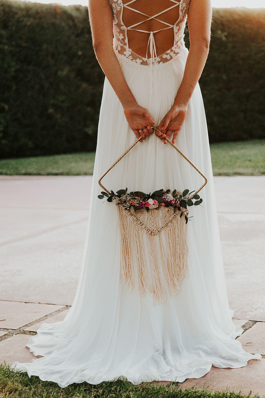 ramo de novia triangular
