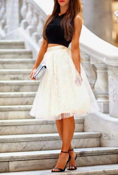 falda tul invitada boda