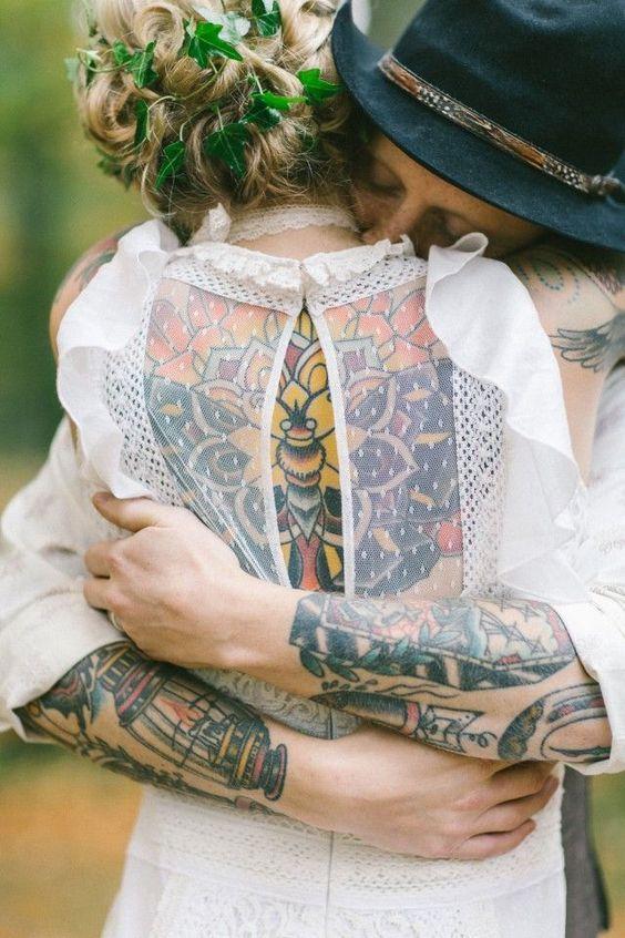 Novias con tatuajes