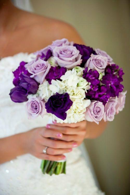 ramo de novia ultra violet