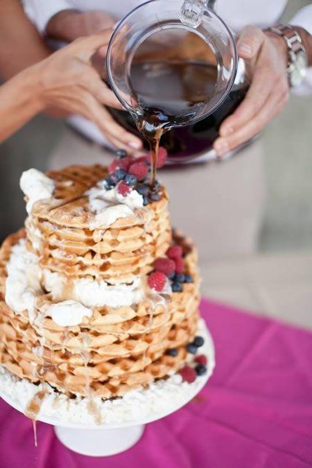 tarta gofres boda