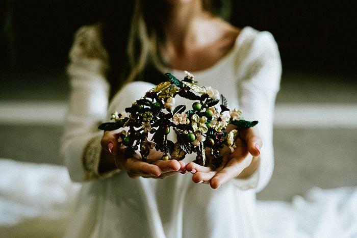Tocado para novias porcelana fría