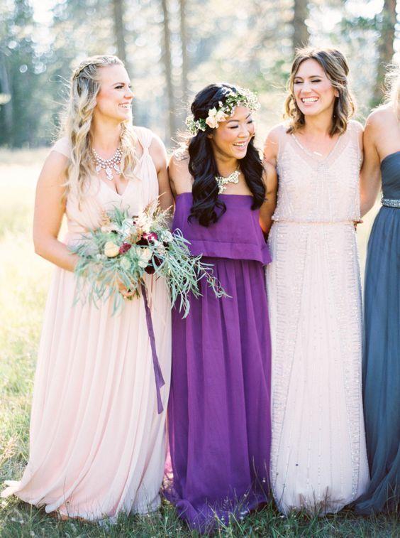 vestido dama de honor ultra violet