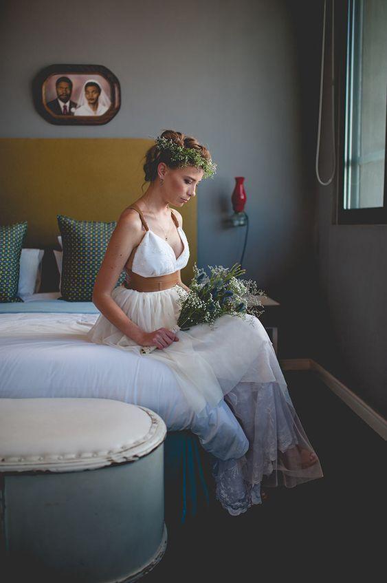 Vestido de novia cuero