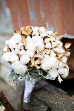 ramo novia flores de algodon