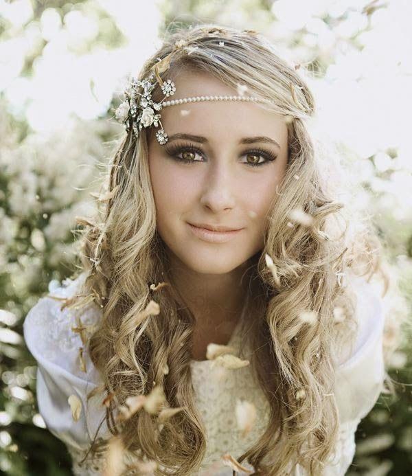 pelo suelto novia bohemia