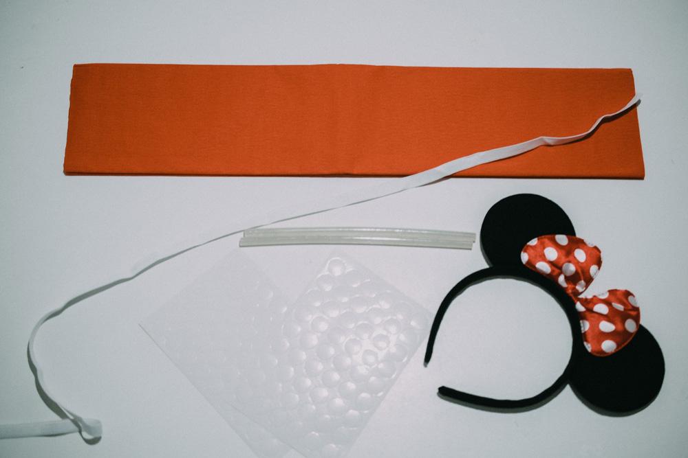 Disfraz DIY Minnie Mouse Papel Crepé