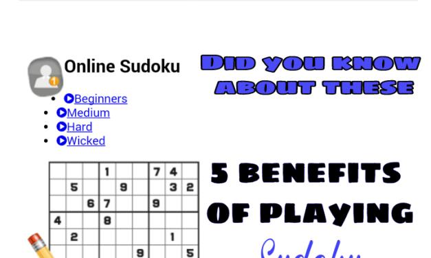5 benefits of playing Sudoku