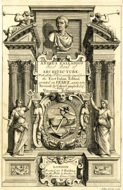 "The frontispiece or title page of ""De Architectura"""