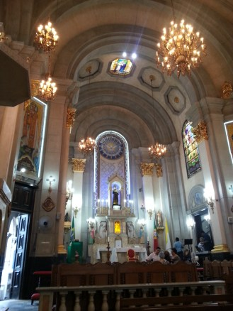 Inside the church..