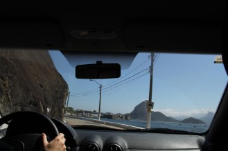 Reaching the fortress in Niterói