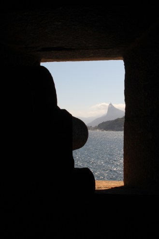 Cristo Redentor, on the other side of Guanabara Bay