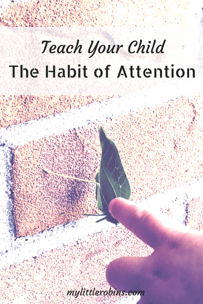 Helping Your Child with the Habit of Attention