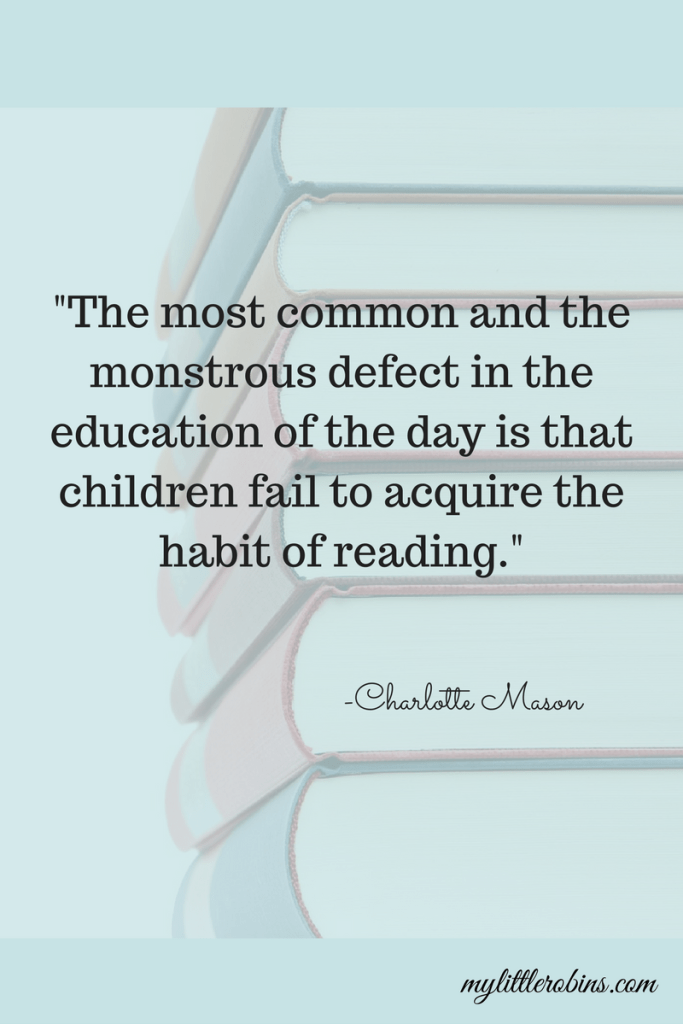 Charlotte Mason didn't mention reading as a habit to model for infants, but now we know how important it is!