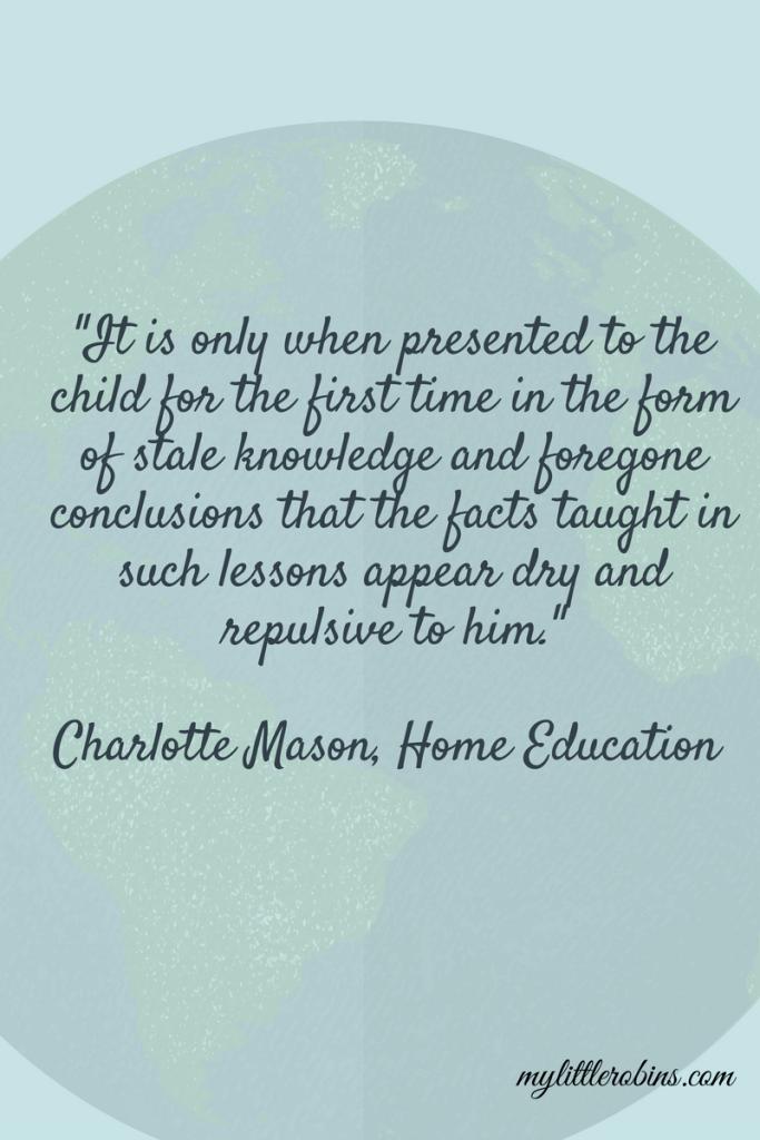 Charlotte Mason Geography