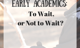 early academics: to wait or not to wait?
