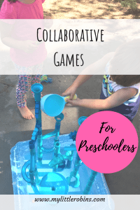 Games that inspire collaboration help build sibling bonds. #preschool #games #collaboration
