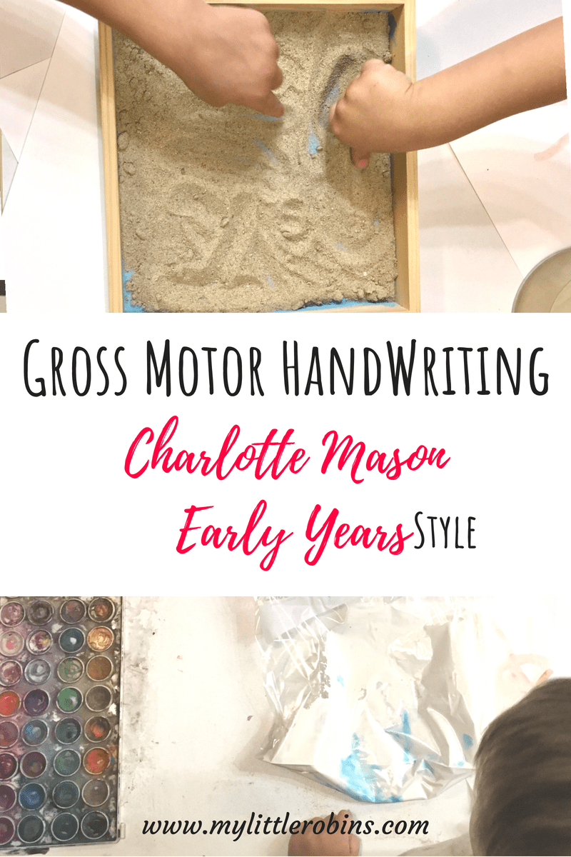#handwriting using #grossmotorskills during the #charlottemason early years